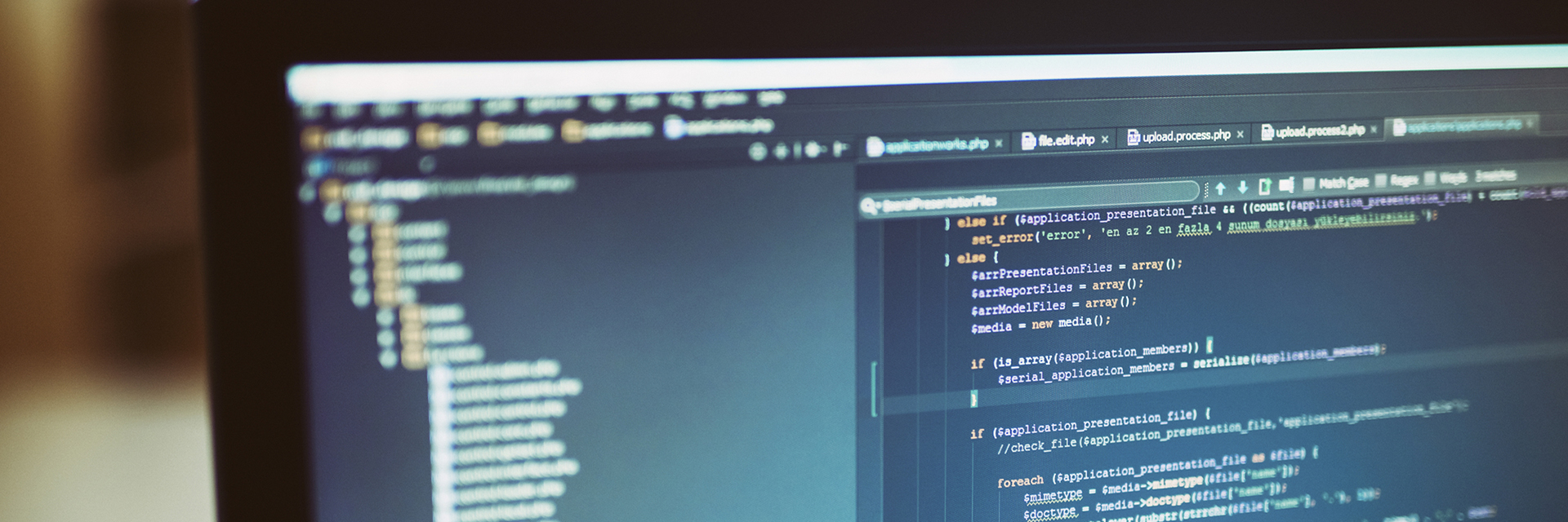 Close up of Monitor with HTML code on it